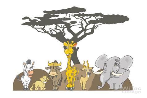 Wandtattoo Kinderzimmer Afrika by Wandaufkleber Afrika Giraffe Zebra Elefant L 246 We
