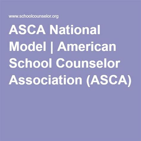 asca school counselor 25 b 228 sta asca national model id 233 erna p 229