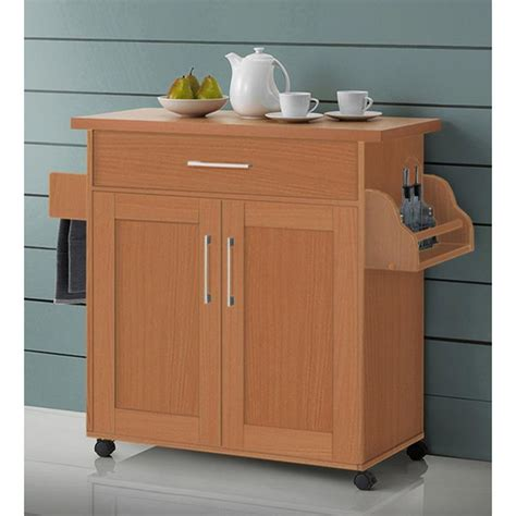 rolling kitchen island cart kitchen island cart on wheels with wood top rolling storage cabinet beech table ebay