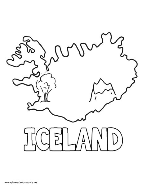 iceland map coloring page iceland free coloring pages
