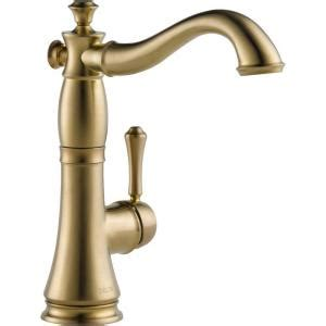 shop delta cassidy touch2o chagne bronze 1 handle pull delta cassidy single handle bar faucet in chagne bronze