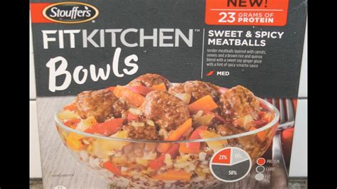 Fit Kitchen Reviews by Stouffer S Fit Kitchen Bowls Sweet Spicy Meatballs