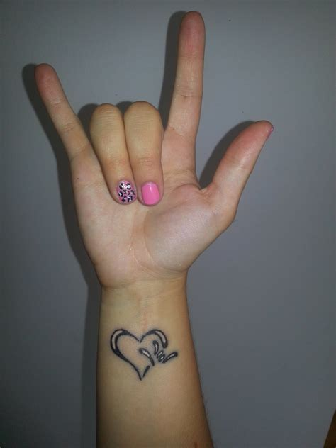 i love you tattoo on wrist 44 i you sign tattoos ideas