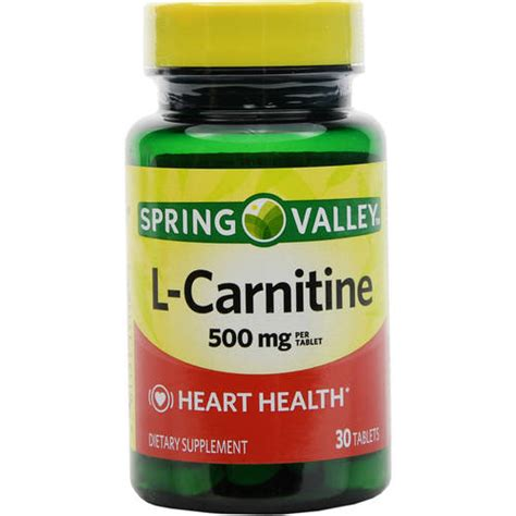 supplement l carnitine valley l carnitine dietary supplement tablets 500