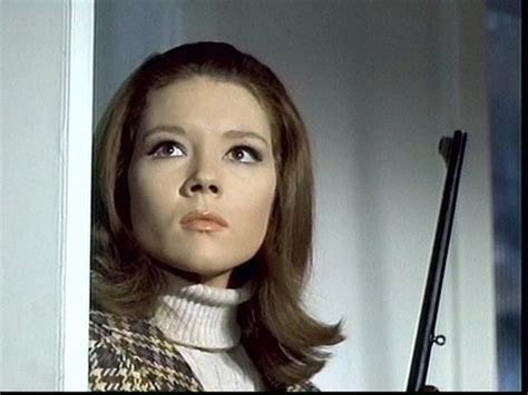 diana rigg in hair curlers emma peel in the avengers she s so cool apart from