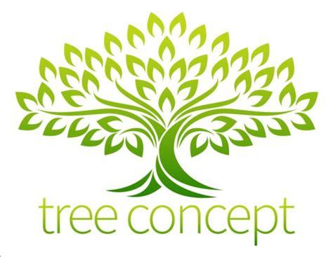 tree symbol font green tree logos vector graphic 05 vector logo free