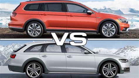 Alltrack Vs Allroad by 2016 Volkswagen Passat Alltrack Vs 2015 Audi A6 Allroad