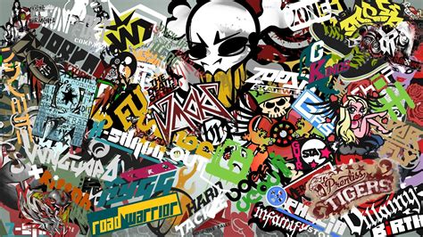 Walpaper Sticker by Sticker Bomb Hd Wallpaper Background Image 1920x1080