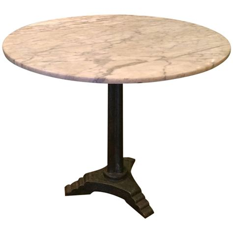 Pedestal Bistro Table Marble Deco Pedestal Bistro Caf 233 Table At 1stdibs