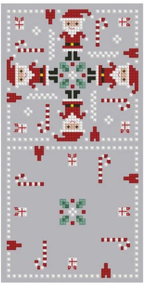 santa chart com cross stitch santa biscornu no color chart available just use pattern chart as your color