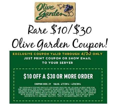 Coupon Code For Olive Garden by 10 30 Printable Olive Garden Coupon