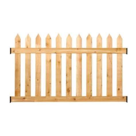 3 5 ft h x 6 ft w cedar spaced picket routed fence panel