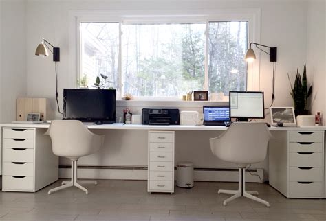 Ikea Home Office Desk Ikea Hacked Faux Built Ins Desk The Sun Filled Fresh Nordic Style Office