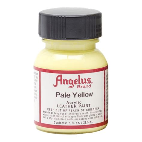angelus paint thunder yellow buy angelus leather paint 1 oz pale yellow