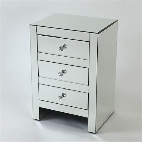 mirrored nightstand 3 drawers wayborn omega 3 drawer mirrored nightstand nightstands