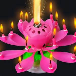 Lotus Candle Birthday Cake Topper Blossom Musical Magic Birthday Candle