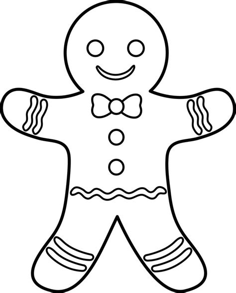 The Gingerbread Coloring Pages free coloring pages of the gingerbread