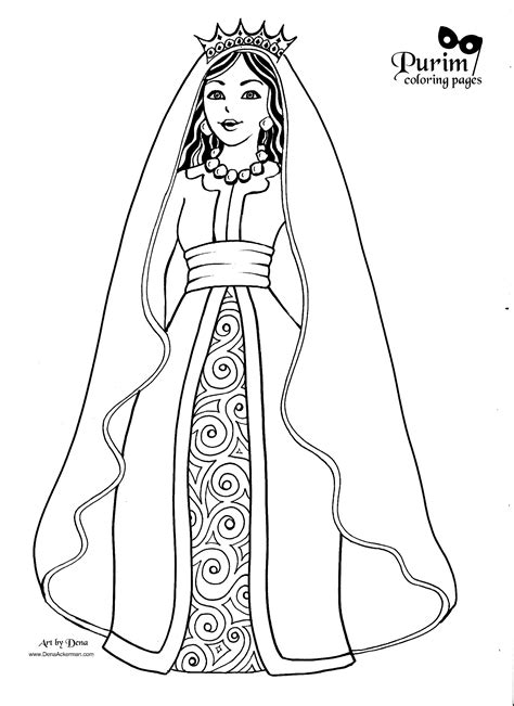 queen coloring pages printable esther this page has great coloring pages for purim