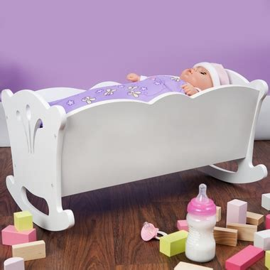 kidkraft lil doll table and chairs set white kidkraft lil doll cradle in white free shipping