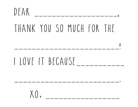 boy thank you card template kid thank you card template grey house harbor
