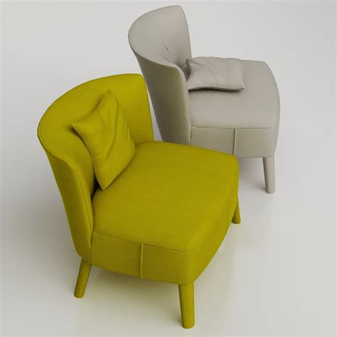 low armchair 3d maxalto febo armchair high quality 3d models