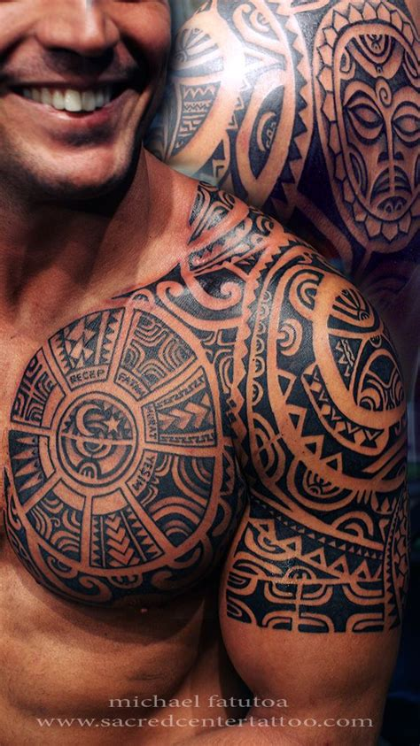 Tattoo On Upper Chest | tatau tattoo men chest upper arm marquesas click here