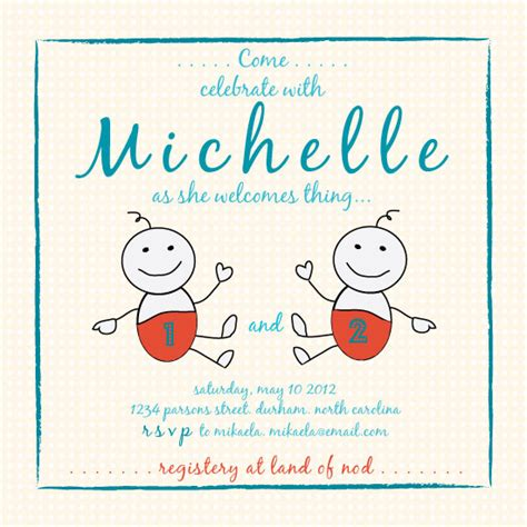thing 1 and thing 2 baby shower invitations baby shower invitations thing 1 thing 2 at minted