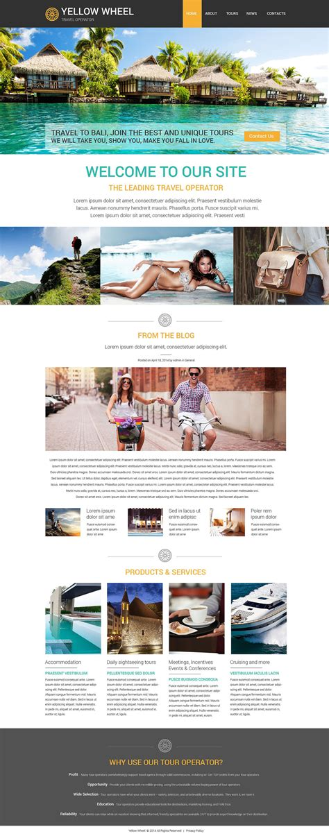 Travel Operator Website Template 52874 Tour Operator Website Template