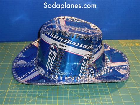 bud light cowboy hat beer can cowboy hat hand stitched made from bud light beer