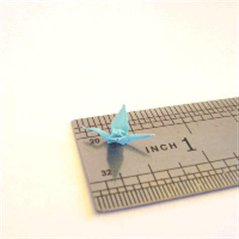 Smallest Origami Crane - see the tiny origami crane