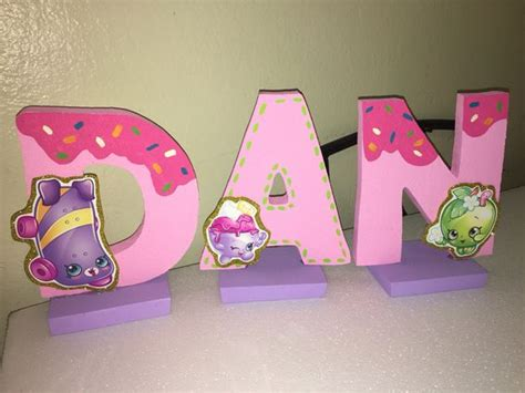 letters for table decorations shopkins birthday name letters table decoration shopkins