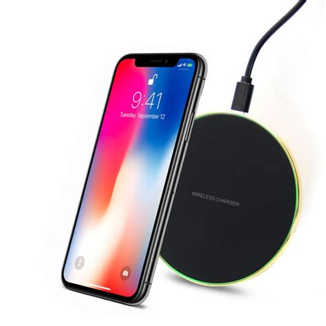 24k gold qi wireless fast charger for iphone x