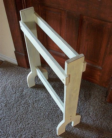 Free Standing Quilt Rack Primitive Quilt Rack Free Standing Blanket Storage Shabby Chic Linen