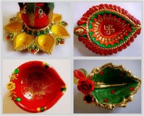 Handmade Diwali Decorations - diya decoration ideas diwali diya decoration deepawali