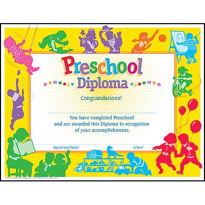 trend enterprises templates preschool diploma images usseek