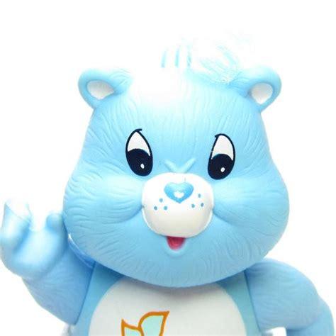 baby tugs bear blue vintage care bears poseable   figure brown eyed rose
