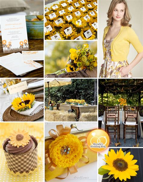 rustic sunflower wedding inspiration board