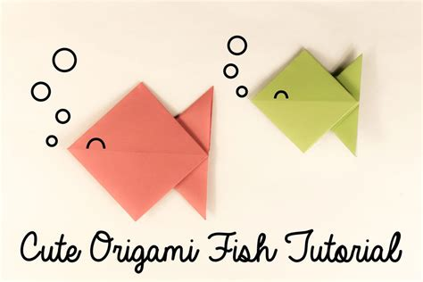 make origami fish step by step