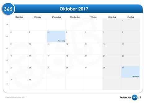 Oktober Kalender 2017 Kalender Oktober 2017