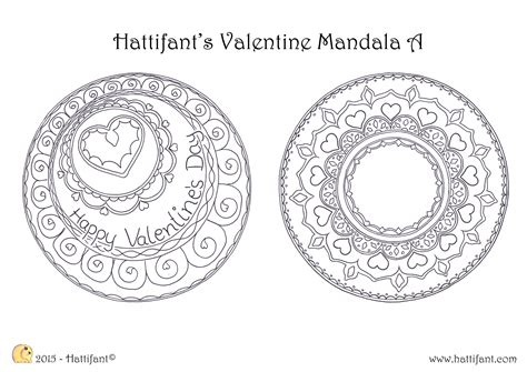 mandala coloring pages valentines hattifant s mandala colouring pages hattifant