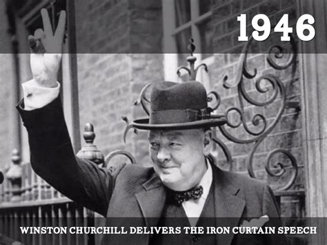 winston churchill delivers iron curtain speech the cold war by hjones