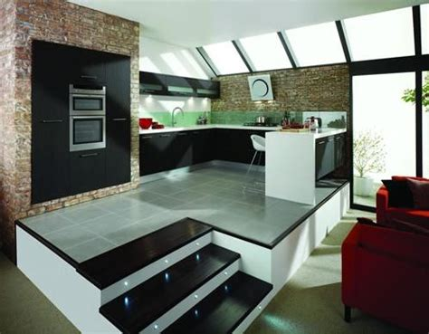separate kitchen from living room ideas kitchen design ideas in a room with unusual walls and