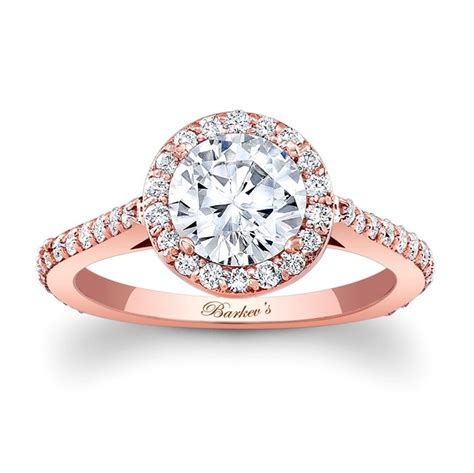 Barkev's Rose Gold Halo Engagement Ring 7933LP