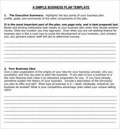 Small Business Proposal Template Free Small Business Plan Template 6 Free Download For Pdf