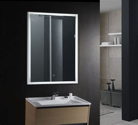 magnificent lighted vanity mirror in bathroom contemporary