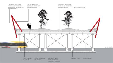 section of a bridge news wildlife crossing structures arc solutions
