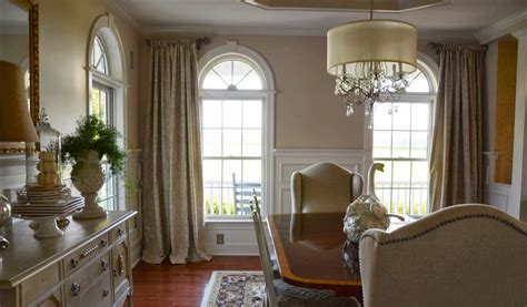interior window treatments luxury arch window treatments