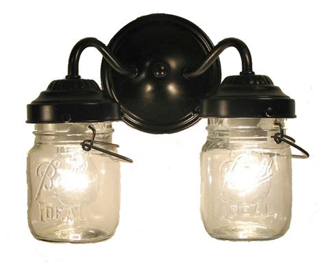 oil rubbed bronze sconces for the bathroom vintage clear canning jar double sconce light oil rubbed bronze farmhouse