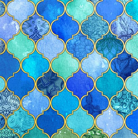 blue moroccan pattern moroccan tile pattern blue www imgkid com the image