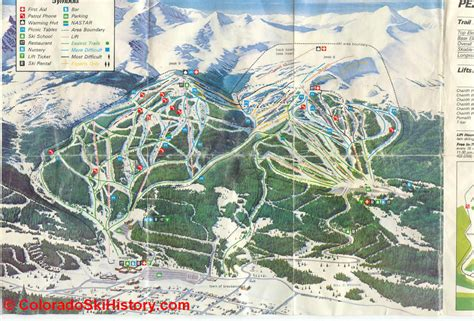 breckenridge ski map history of the breckenridge ski area
